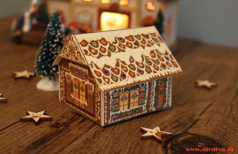 kersthuisje maken van papier