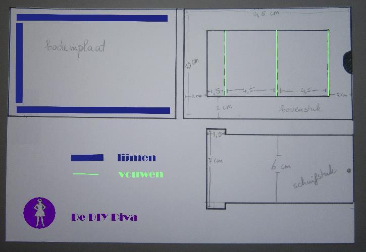 tutorial staande kaart diydiva