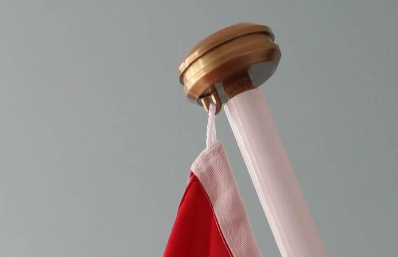 vlaggenstok gouden knop diydiva